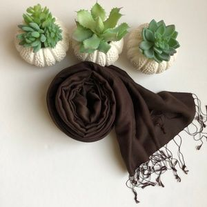 Brown Scarf with tassle ends